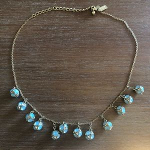 Kate Spade Gold Necklace w/Blue Stone Details